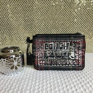 Coach Poppy Collection Tartan Wristlet